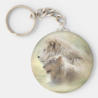 Llavero del arte de la luna del león