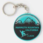 Llavero del arte de la snowboard de Mammoth Mounta
