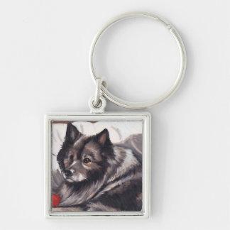Llavero del arte del perro del Keeshond