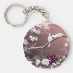 Llavero del asilo de la flor de cerezo