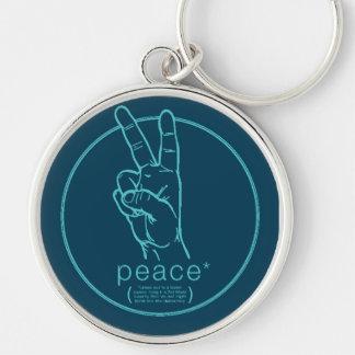 Llavero del asterisco de la paz