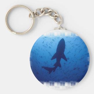Llavero del ataque del tiburón