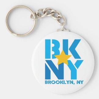 Llavero del azul de BK Brooklyn