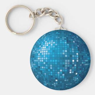 Llavero del azul de la bola de discoteca