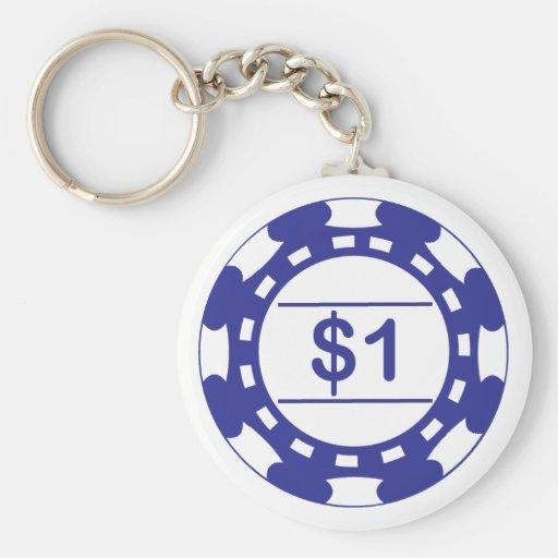 Llavero del azul del microprocesador de $1 casinos