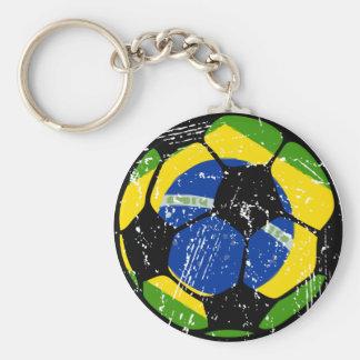 Llavero del balón de fútbol del Brasil