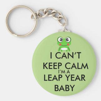 Llavero del bebé del día de salto del año bisiesto