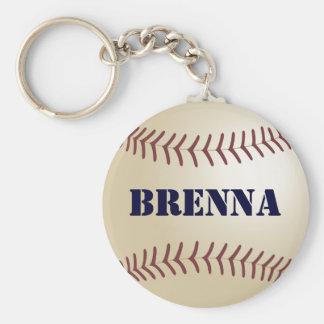 Llavero del béisbol de Brenna por 369MyName