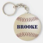 Llavero del béisbol de Brooke por 369MyName