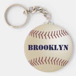 Llavero del béisbol de Brooklyn por 369MyName