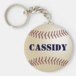 Llavero del béisbol de Cassidy por 369MyName
