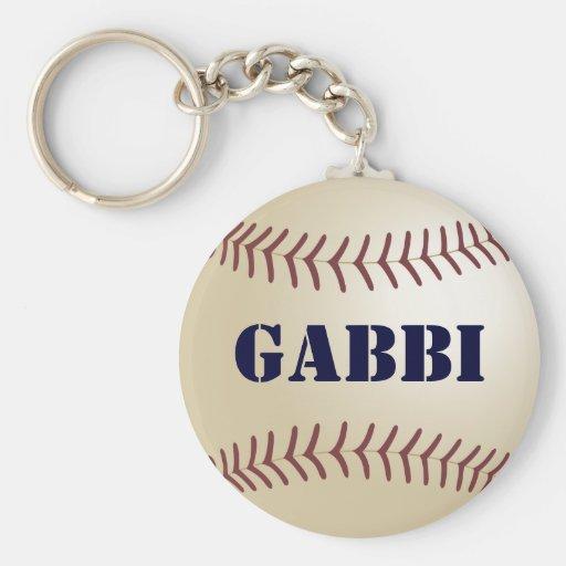 Llavero del béisbol de Gabbi