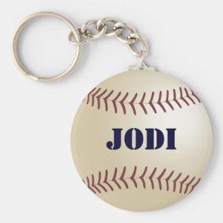 Llavero del béisbol de Jodi por 369MyName