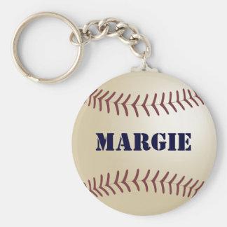 Llavero del béisbol de Margie por 369MyName
