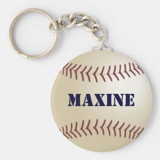 Llavero del béisbol de Maxine por 369MyName