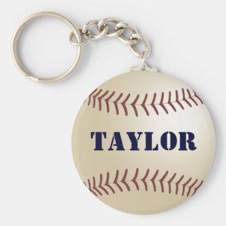 Llavero del béisbol de Taylor por 369MyName