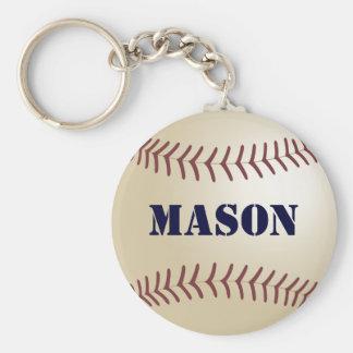 Llavero del béisbol del albañil por 369MyName