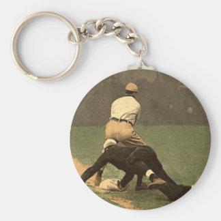 Llavero del béisbol en estilo retro fresco