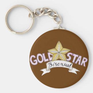 Llavero del Bisexual de la estrella del oro