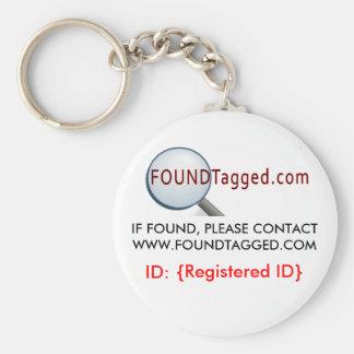 Llavero del blanco de FoundTagged