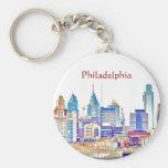 Llavero del bosquejo del color de Philadelphia