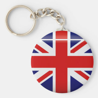 Llavero del botón de la bandera de Reino Unido