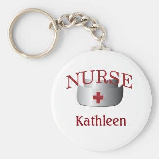 Llavero del botón de la enfermera del nombre de