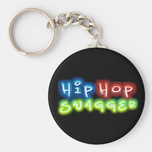 Llavero del botón de la fanfarronería de Hip Hop