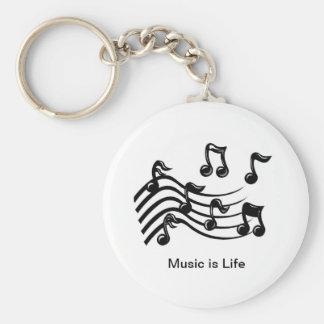 Llavero del botón de las notas musicales