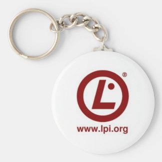 Llavero del botón del logotipo de la LPI