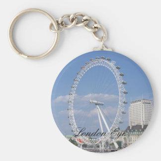 Llavero del botón del ojo de Londres