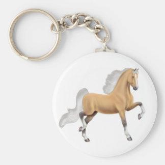 Llavero del caballo del Palomino de Saddlebred del