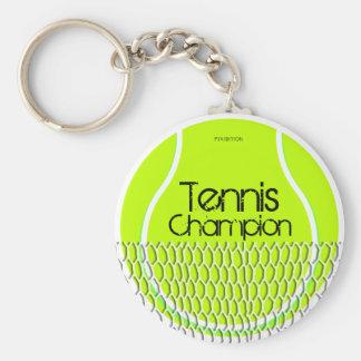 Llavero del campeón del tenis