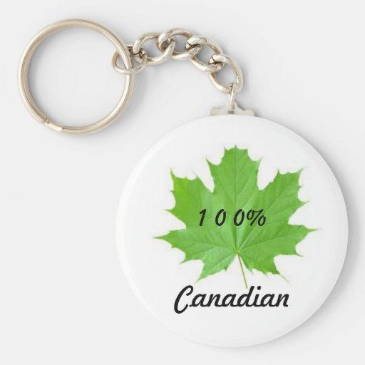 Llavero del canadiense de la hoja de arce el 100%