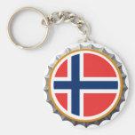 Llavero del casquillo de la cerveza de Noruega