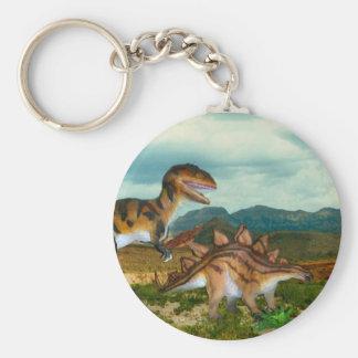 Llavero del Ceratosaurus y del Stegosaurus