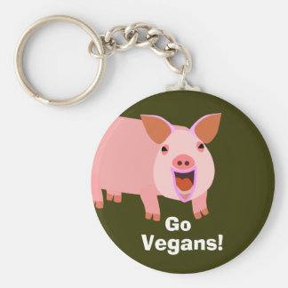 Llavero del cerdo del vegano