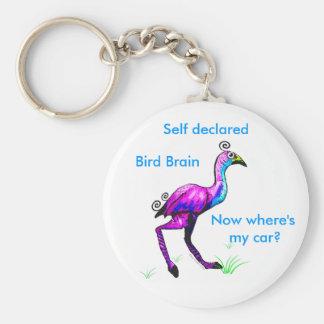 Llavero del cerebro del pájaro