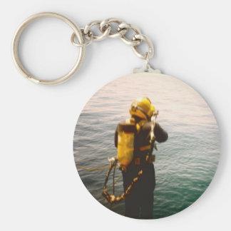 Llavero del chapoteo del buceador del mar profundo