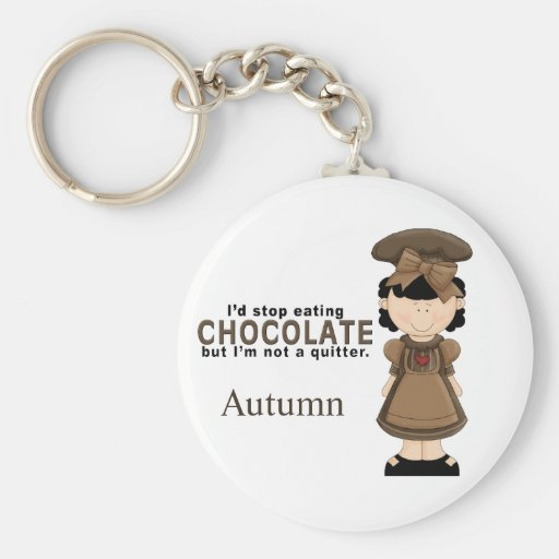 Llavero del chica 2 del chocolate