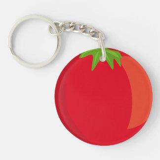 Llavero del círculo del tomate (solo-echado a un