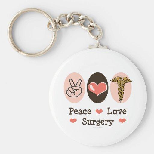 Llavero del cirujano de la cirugía del amor de la