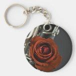 Llavero del Clarinet y del rosa rojo