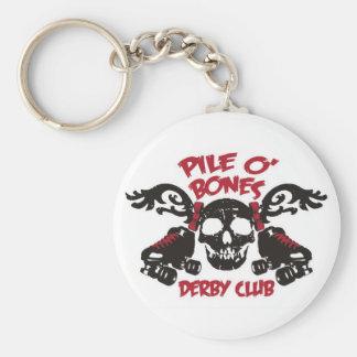 ¡Llavero del club de PileOBones Derby! Llavero Redondo Tipo Pin