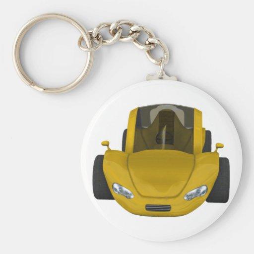 Llavero del coche de deportes del oro
