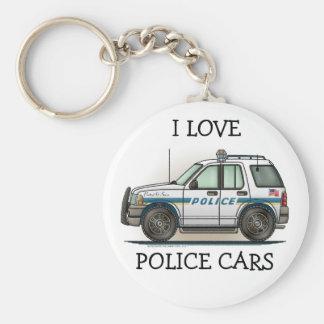 Llavero del coche del poli del coche del crucero d