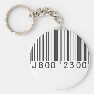 Llavero del código de barras de Jaden