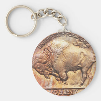 Llavero del colector de moneda de níquel del búfal