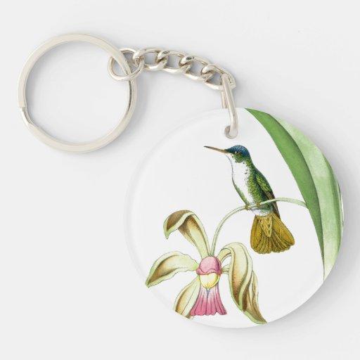 Llavero del colibrí y de las flores