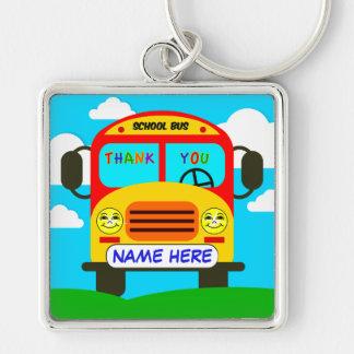 Llavero del conductor del autobús escolar con
